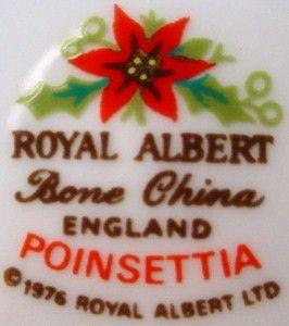 ROYAL ALBERT china POINSETTIA pattern CREAMER cream pitcher JUG