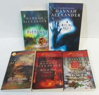 Lot of 5 Steeple Hill / Love Inspired Hannah Alexander SUSPENSE