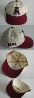 New Alabama Crimson Tide Rare Vintage Snapback Caps Hats 1990s White