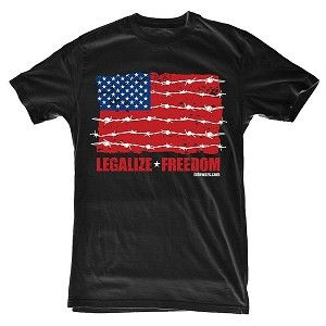 Legalize Freedom Barbed Wire Flag T Shirt by Alex Jones