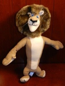 Madagascar Alex Lion Brown Plush Figure Stuffed Animal Toy 14 Tall