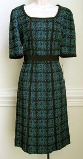Alex Marie Womens Short Sleeve Dress Blue Black New Discount
