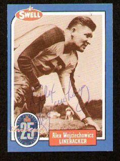 Alex Wojciechowicz Signed Auto Swell Football HOF Card