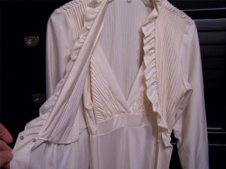 Dressing Nightgown and Robe Peignoir Set Alice Maloof Size M