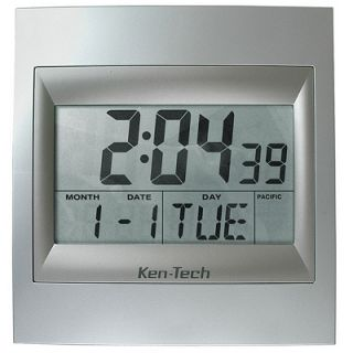 ken tech large digital atomic clock t4668