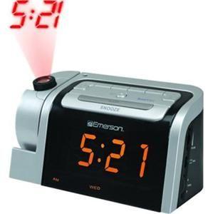 Emerson Dual Alarm Clock Radio w Projector Projection