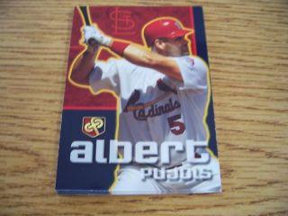 2007 Christian Family Day Albert Pujols Cardinals Card