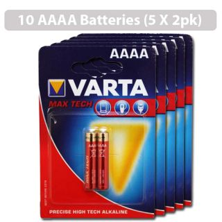 Varta Max Tech 10x AAAA Alkaline Batteries for LED Light
