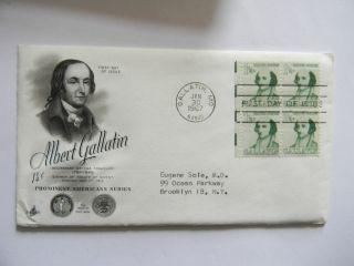 Jan 30TH1967 Honoring Albert Gallatin Prominent American Series First