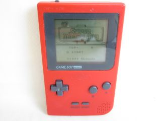 Nintendo Game Boy Pocket Junk Console System MGB 001 Gameboy Red 26204