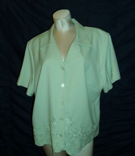 Alfred Dunner Womens Plus Size 18w Beautiful High Quality Embroidered