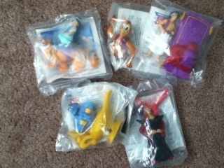 Aladdin 1992 Burger King Kids Club meal toys complete set of all 5