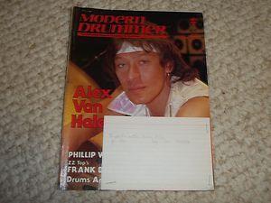1983 Alex Van Halen Modern Drummer Drum Set Magazine