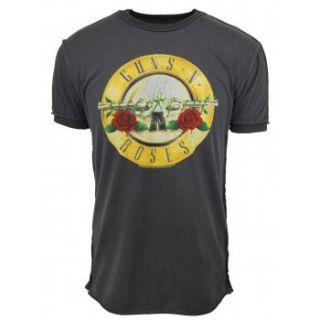 Amplified Mens Vintage Guns n Roses Drum T Shirt Charcoal NEW