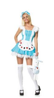 Womens Leg Avenue Alice in Wonderland Queen Hearts Halloween Costume