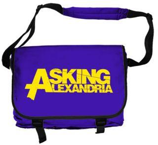 Asking Alexandria Logo Official Purple Messenger Bag Shoulder Satchel