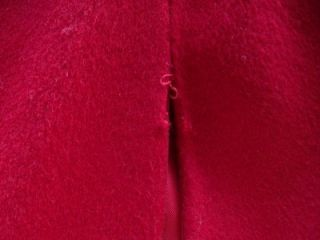 Vintage 60s Jacobsons Red Long Wool Cape Coat M to L