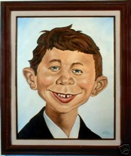 Alfred E Newman Oil Painting Comic