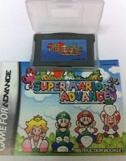 Super Mario Advance Gameboy Advance SP DS GBA Game Boy Games