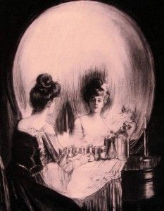 Mirror, 16 x 20 Optical Illusion Poster. Charles Allan Gilbert