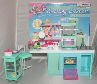 Fancy Life Doll Furniture Cooking Corner Kitchen Playset