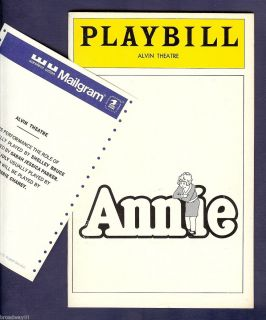 Jessica Parker as Annie Alice Ghostley 1979 Broadway Playbill