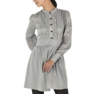 Alice Temperley for Target Gray Long Sleeve Cotton Voile Dress Size 1