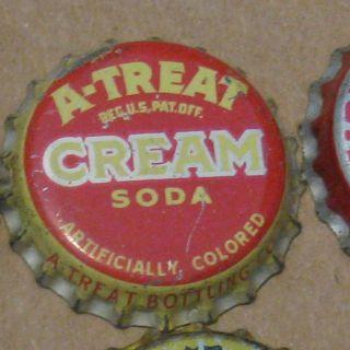 Treat Cream Soda Allentown PA Cork Lined Soda Cap Crown