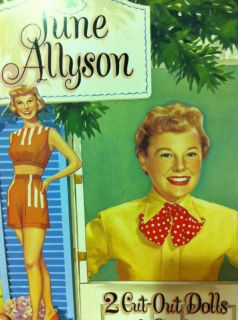 Paper Doll Cut Out Book June Allyson New