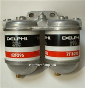 twin double fuel filter lucas cav diesel bio wvo