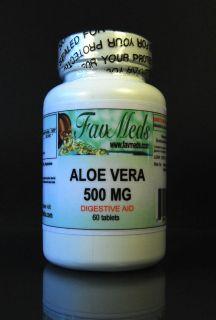 Aloe Vera 500mg digestion aid High Quality USA Made 60 capsules