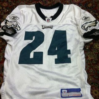 Eagles Game Worn Used issued Jersey Shirt Sheldon Brown All Pro