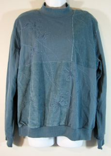 Alfred Dunner Womens Top Blouse Shirt Size L Large EUC