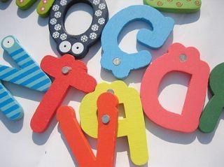 Nice Kids Wooden Toy Teaching Alphabet Fridge Magnetic Magnet Set 26