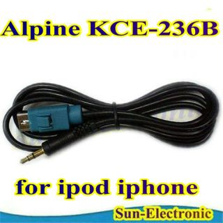 Adapter Interface Cable for Alpine KCE 236B iPod iPhone  PSP