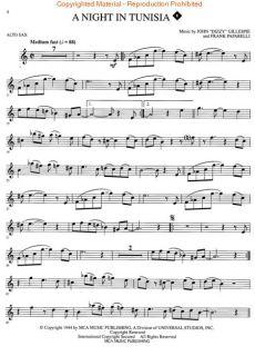 JAZZ & BLUES   ALTO SAXOPHONE (SAX)   PLAY ALONG SOLOS  MUSIC BOOK