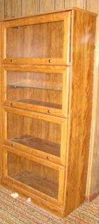 Wood & Glass Curio Storage Cabinet Shelf With Glass Doors Household