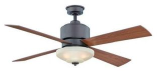 Hampton Bay Alida 52 Ceiling Fan with Light Kit Remote Control Bronze