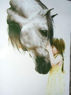 The Kiss Little Girl Her Horse T Shirt Sizes s XL
