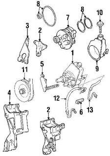 Alternator Steering Pump Mount Side Rear Bracket Brace Chevy GMC
