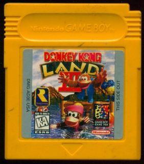 Donkey Kong Land III Nintendo Game Boy Video Game Cartridge Yellow USA
