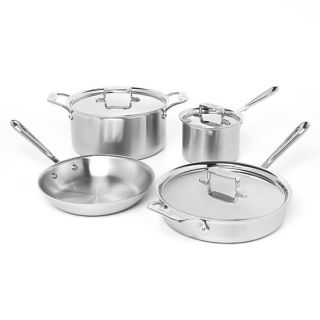 All Clad D5 7 Piece Brushed Stainless Steel Cookware Set Brand New