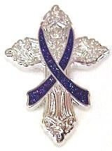 Alzheimers Awareness Purple Ribbon Religious Cross Inspirational
