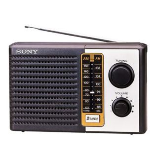 Sony Two Band Am FM Portable Battery Transistor Radio Icff 10