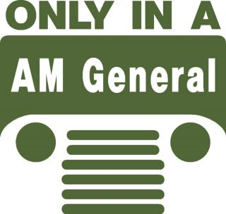 M151 Am General Jeep Logo Decal Sticker M151A2 Mutt