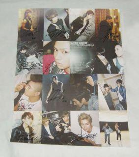 SJ Super Junior 4th BONAMANA Autographed Poster Ver B