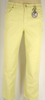Gloria Vanderbilt Amanda Pant Stretch Yellow Jeans New