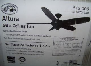gallery now free hampton bay 56 altura ceiling fan oil rubbed bronze