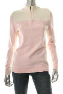 Tommy Hilfiger New Allison Pink Long Sleeve Colorblock Logo 1 2 Zip