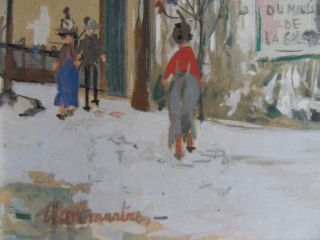 Maurice Utrillo Original Lithograph with Gouache Signed